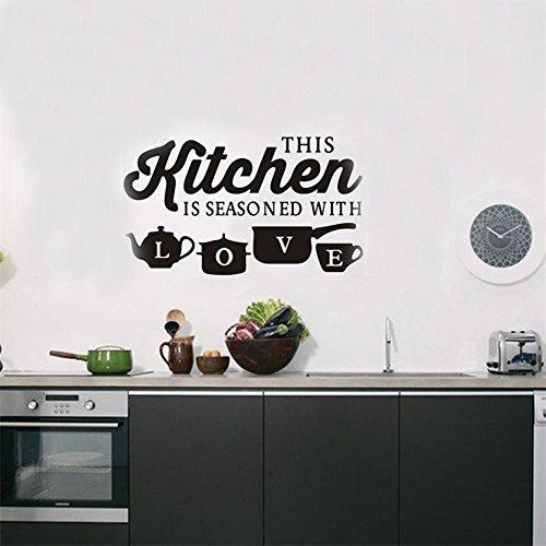 Vovotrade® Stickers Muraux Sculptés Créatifs De Restaurant De Cuisine De  Éléments De Mode Démontables Fashion