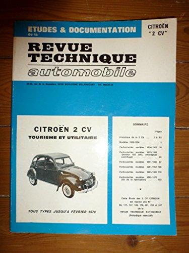 RRTA0060.0 - REVUE TECHNIQUE AUTOMOBILE CITROEN 2CV Jusqu'à Février 1970