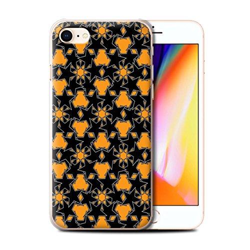 Stuff4 Hülle / Case für Apple iPhone 8 / Pack 8pcs / Zerstreute Sterne Kollektion Orange Muster