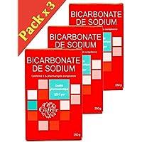 gifrer bicarbonato de sodio calidad pharmaceutique 100% Pure–Juego de 3x 250g