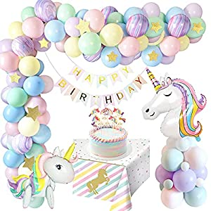 weeyin Decoración Cumpleaños Unicornio Niña,