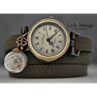 Glück - Echtleder Armbanduhr