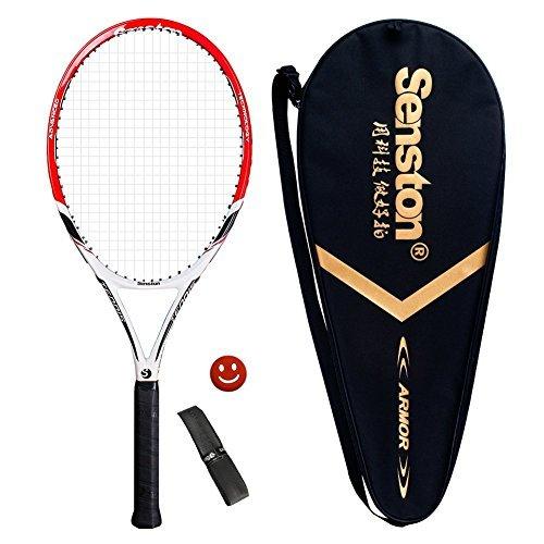 Senston Damen/Herren Tennisschläger Tennis Schläger Set mit Tennistasche,Overgrip,Vibrationsdämpfer - 6 Farbe Lila Junior Set