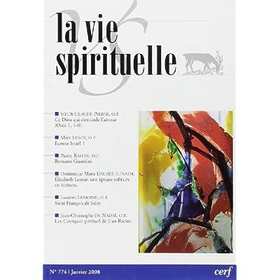 La vie spirituelle numéro 774