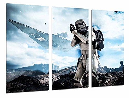 (Modernes Wandbild fotografico Star Wars Darth Vader, Schlacht Soldat Armee Schiff, 97x 63cm, Ref. 27011)