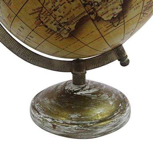 globo de estilo vintage con el mapa antiguo marco mundo 9.5 'de altura balón amarillo de pie 6' globo de plástico de regalo propósito decorativo decoración hogar