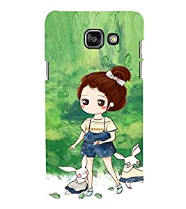 EPICCASE Gorgeous Girl and Rabbit Mobile Back Case Cover For Samsung Galaxy A3 (2016) (Designer Case)