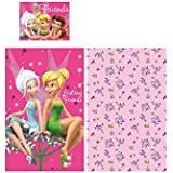 Parure de lit Fée Clochette Disney 90x140cm + 1 taie 40x55cm 100% coton