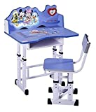 #1: TruGood Wooden Study Table and Chair Set for Kids (Blue)