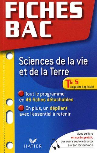 Sciences de la vie et de la terre Tle S, obligatoire et spécialité