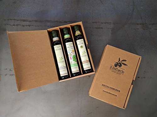 Confezione regalo olio extravergine d'oliva toscano alta qualità – tris 0,25 l