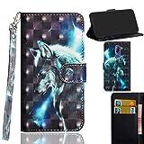 Ooboom® Alcatel 3X Case 3D Flip Folio Wallet Cover PU