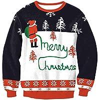 Hanomes Damen pullover, Damen Frohe Weihnachten O-Neck Santa Pullover Printed Sweatshirt Tops Bluse preisvergleich bei billige-tabletten.eu