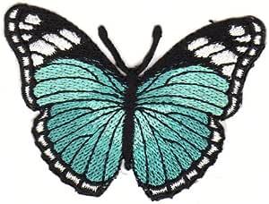Aufn/äher B/ügelbild Aufb/ügler Iron on Patches Applikation Gelb Schmetterling Falter Butterfly Kinder Baby