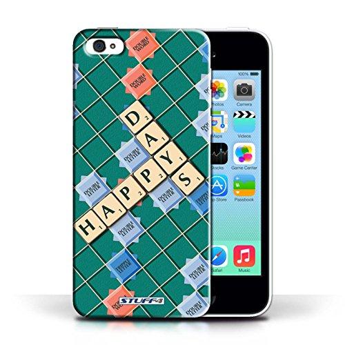 Kobalt® Imprimé Etui / Coque pour Apple iPhone 5C / Celui Qui Ose conception / Série Mots de Scrabble Jours Heureux