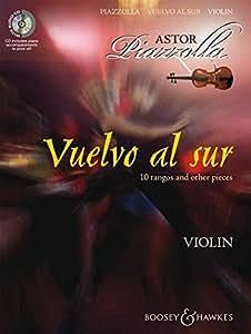 BOOSEY & HAWKES PIAZZOLA ASTOR - VUELVO AL SUR - VIOLIN AND PIANO Partition classique Cordes Violon