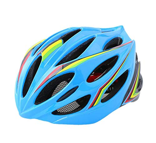 XGHW Fahrrad-Helm Mountainbike Rennrad Einteilige Hut Reiten Ausrüstung Fahrradhelm (Farbe : Blau, größe : 56-62cm)