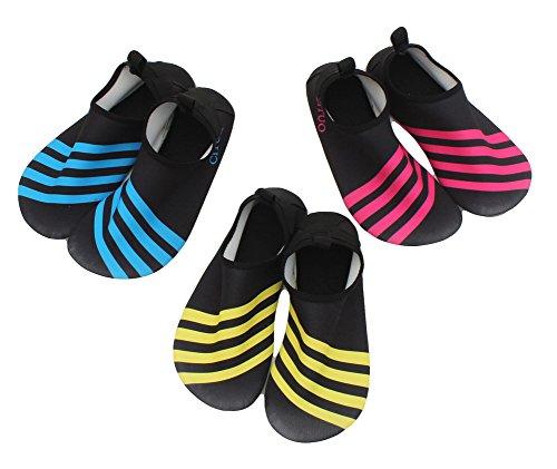 Fortuning's JDS Acqua Scarpe-Asciugatura veloce Uomo Donna a piedi nudi del Aqua calzini scarpe da tennis della pelle per immersioni subacquee, nuoto, kayak, pesca, yoga, fitness Giallo 2