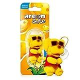 AREON Smile Deodorante Auto Vaniglia Cane Giallo Divertente da Appendere Specchietto Retrovisore Simpatico 3D (Confezione da 1)