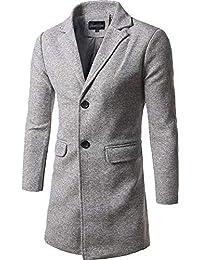 QK-Lannister Trench Coat Monopetto Invernale da Uomo Cappotto Soprabito  Soprabito Lungo Ragazzo Trench Coat A Maniche Lunghe Risvolto… 7e7c846da20