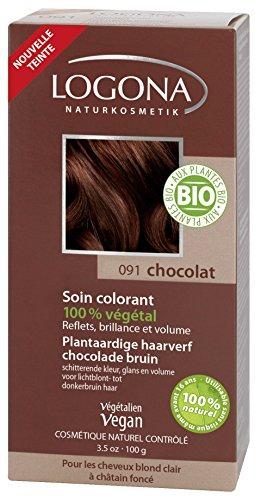 Logona Cuidado del tinte 100 g de chocolate
