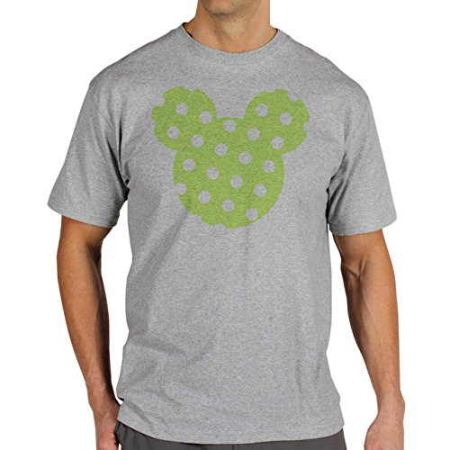 Mickey Mouse Disney Dope Icon Swag Colour Light Green Dotted White Herren T-Shirt Grau