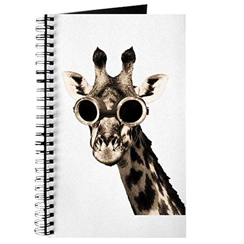 CafePress - Giraffe mit Steampunk-Sonnenbrille, Spiralbindung, Notizbuch, persönliches Tagebuch, blanko