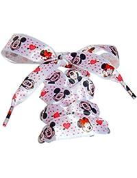 3d5d1b54c3ad76 Disney Minnie   Mickey Mouse Kids Juniors Satin Ribbon Shoelaces for Kids  Converse Lo s   Hi