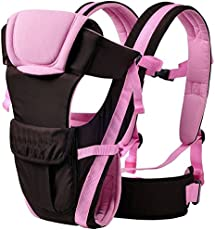 Ineffable Pocket Strong Belt Durable Baby Carrier Baby Carrier  (Pink, Back Carry)