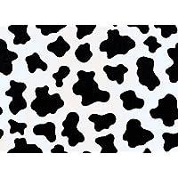 Moo Cow Pattern Printed Vinyl Fablon - 2m x 45cm Roll