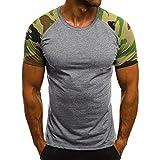 Magiyard Lot de t-Shirts à imprimé Camouflage, T-Shirt Oversize en Polyester à...