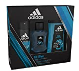 Adidas Ice Dive Body Spray, Shower Gel and Eau de Toilette Trio