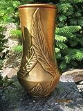 Grabvase aus Bronze Friedhofsvase Bronzevase Vase massiv Grabschmuck aus Bronze