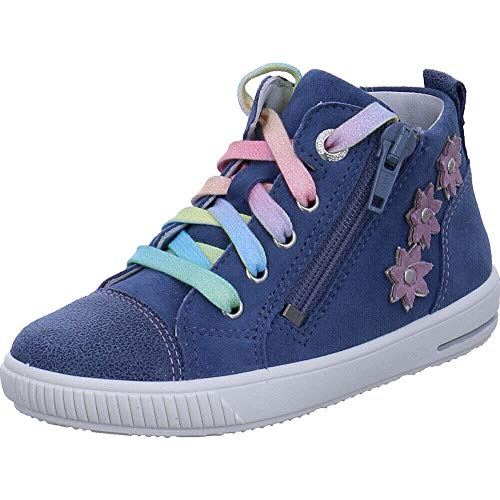Superfit Baby Mädchen Moppy Sneaker Blau 80, 23 EU