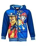 Jungen Mädchen Paw Patrol Ryder Chase Marshall Print Zip Pullover Sweater 2 bis 8 Yrs