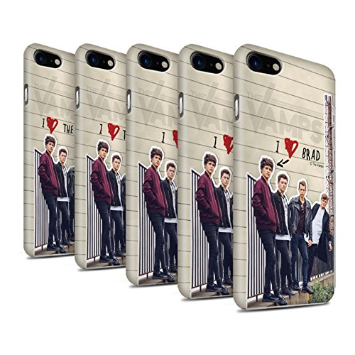 Offiziell The Vamps Hülle / Matte Snap-On Case für Apple iPhone 8 / Brad Muster / The Vamps Geheimes Tagebuch Kollektion Pack 5pcs