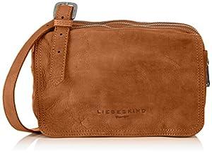 Liebeskind Berlin Maike - Bolso Bandolera para mujer, color marrón cognac, talla 23x16x7 cm (B x H x T) de Liebeskind