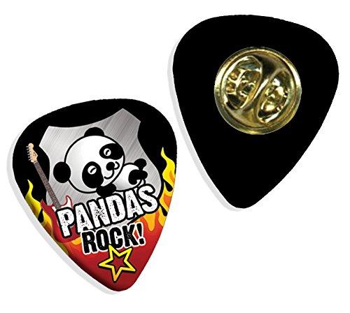 Panda Pandas Rock Gitarre Plektrum Pick Abzeichen Badge (R1)