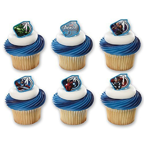 ngers Warriors Cupcake Rings (12 Count) by DecoPac ()