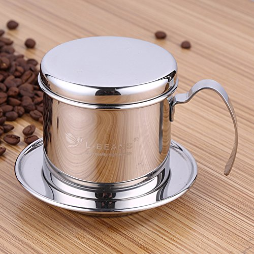 Kaffeemaschine, Edelstahl Vietnamesisch Kaffeemaschine Topf Kaffee Drip Filter, 1 Tasse Kaffee Drip...