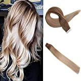 Easyouth Extensions Tape Kupfer 20 zoll 50g 20Stück pro Paket Farbe #12T24 12 Verblassen bis 24 Balayage Tape in Extensions Haar Tapes