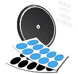 style4Bike Scheibenrand Ventilaufkleber Scheibe Triathlon Zeitfahrrad - Oval - Carbon Chrom Neon Glanz | S4B0307_2