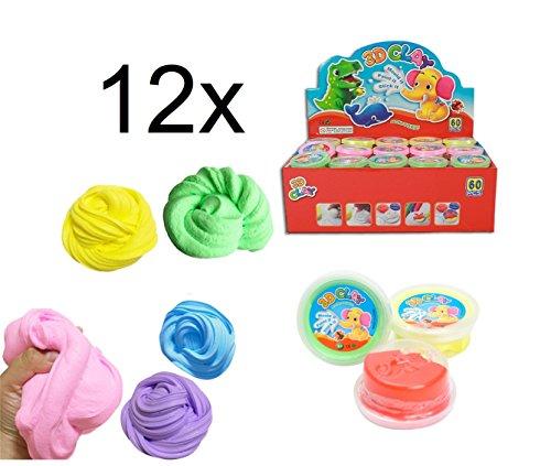12x Springknete / Knete / Spielknete / Kinderknete / Hüpfknete / Flummi in bunten Farben gemischt als Mitgebsel für Kindergebrustag für Jungen & Mädchen von (Aufblasbare Freundin)