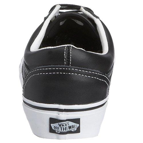 Vans U Old Skool, Chaussures Basses Mixte Adulte Noir  Schwarz (Black/True White Leather)
