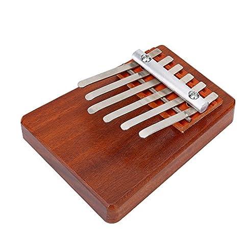 5/6 Key Finger Thumb Piano Daumenklavier für Anfänger Musikinstrument Training Tool für Kinder ( Edition : 6 KEYS-brown )