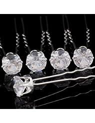 【20 PCS épingles à cheveux】Bigtree Pince à cheveux cristaux transparent Diamante pour mariée ornements à cheveux de mariage accessoires cheveux