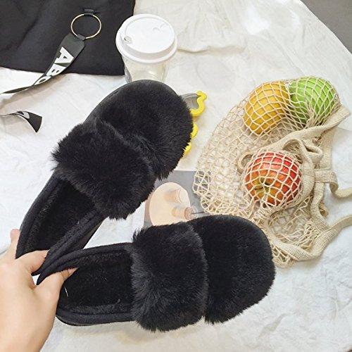 2017 Nouveau Coton Chaussures Sacs À Main Avec La Lune Fond Souple Maison Chaussures Anti-dérapant Épais Fond Pois Imperméables Chaud Coton Chaussures En Gros Chaussures En Coton Chaud Imperméable à L Black