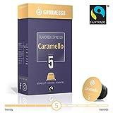 Gourmesso Soffio Caramello (Caramel) - 10 Capsules de café compatibles Nespresso - Café équitable