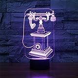 RAINBOW MEETING Retro- Telefon 3D helles buntes helles Acryllicht 3D, Fernbedienung
