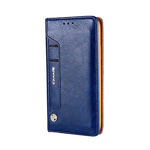 Galaxy Samsung S8 Rot Hülle Tasche PU Leder Handy-Shell Hülle mit Kartenfächer Geldscheinfach Mit Kreditkarten Handy-Schutzhülle